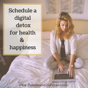 Schedule a digital detox for health